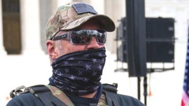 A militia member