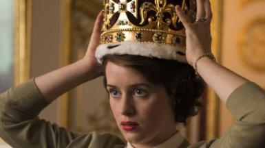 Claire Foy, as the Queen, in The Crown