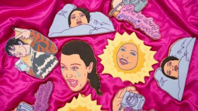 Funny Face Bakery Kardashian-themed cookies