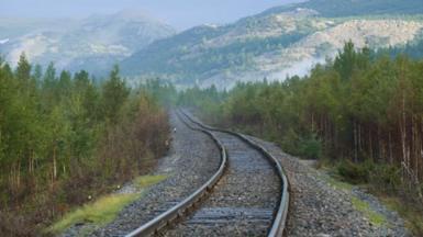 Railroad in Vorkuta, Russa