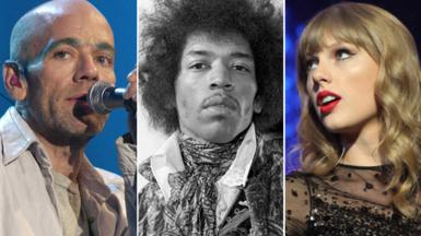 Michael Stipe, Jimmi Hendrix and Taylor Swift - lyrics quiz image