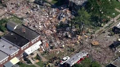 Gas explosion destroys Baltimore homes