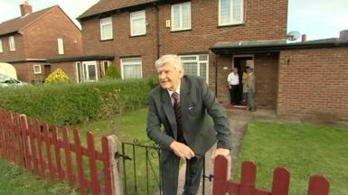 Dave Prowse at his childhood home on Bristol's Southmead estate