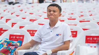 Alibaba founder Jack Ma attends Alibaba 20th Anniversary Party at Hangzhou Olympic Center Stadium
