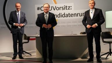 (L-R) Friedrich Merz, Armin Laschet, and Norbert Röttgen
