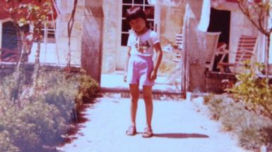 Image shows Mié Kohiyama as a child