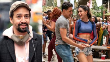 Lin-Manuel Miranda, Anthony Ramos and Melissa Barrera