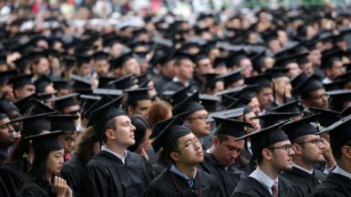 Graduates in the audience at the Massachusetts Institute of Technologys commencement in Cambridge, Mass. on June 3, 2016