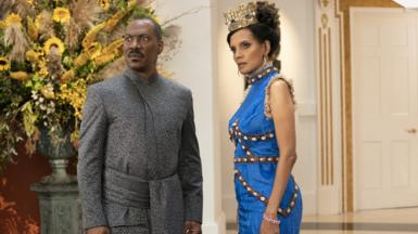 Eddie Murphy and Shari Headley in Coming 2 America
