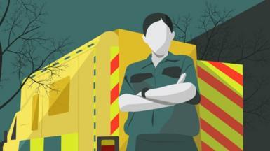 Illustration of a paramedic