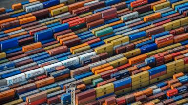 Containers at Tilbury port