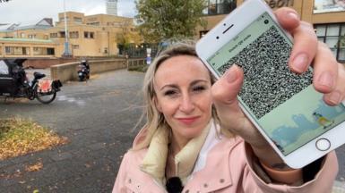 Anna Holligan with Dutch Coronacheck app
