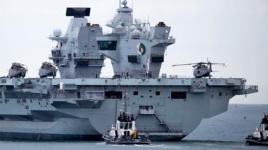 Royal Navy aircraft carrier HMS Queen Elizabeth