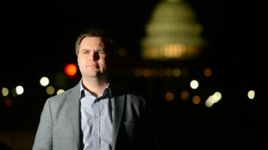 JD Vance, author of Hillbilly Elegy, in Washington DC (file pic - 2017)