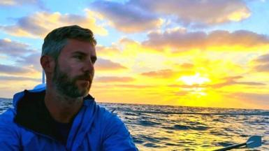 Johnny Ward is part of a four-man rowing team that has crossed the Atlantic Ocean in a single boat.
