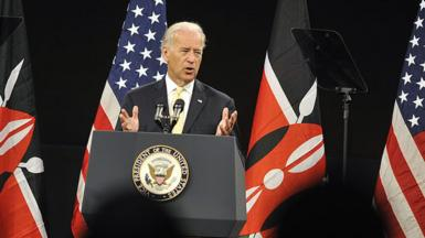 Joe Biden speaking in Kenya