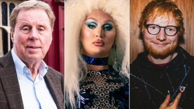 From left: Harry Redknapp, The Vivienne and Ed Sheeran