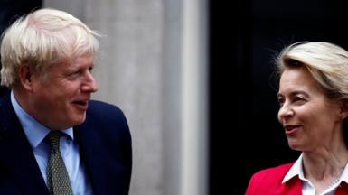 Boris Johnson and Ursula von der Leyen