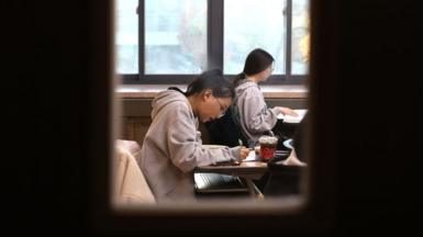 South Korean students taking the test in Seoul in 2019