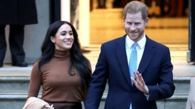 Meghan and Harry visit Canada House