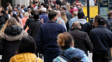 Shoppers on Oxford Street in October 2020