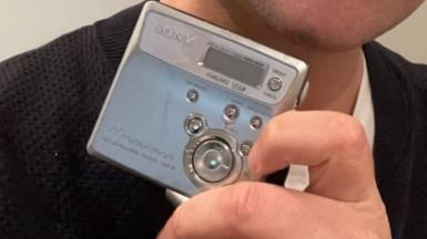 Sony Walkman mini disc player