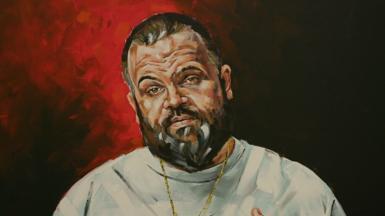 Scott Marsh's Archibald Prize portrait of Adam Briggs 2020