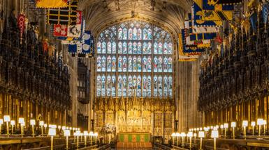 Inside St George's chapel, Windsor