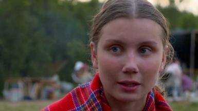 Norway climate activist at camp