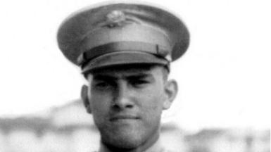 Photograph of Carl Pasurka in his military uniform