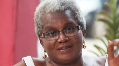 Elizabeth Ohene with grey hair