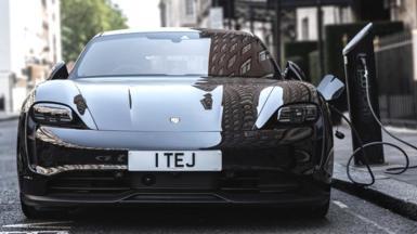 Electric Porsche charging point