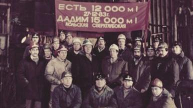 A team of diggers