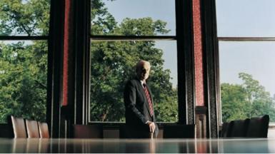 Man in a boardroom