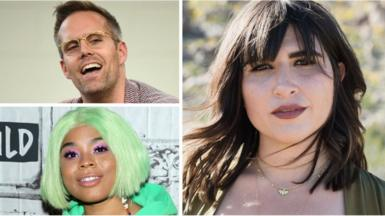 Emily Warren, Tayla Parx and Justin Tranter