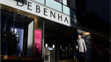 A Debenhams shop