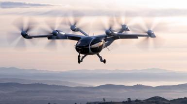Joby Aviation's flying taxi on a test flight