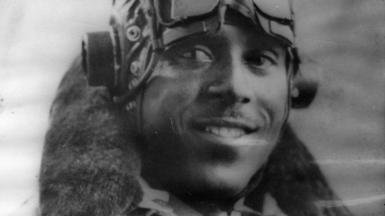 John Henry Smythe OBE wearing flight jacket - 1943