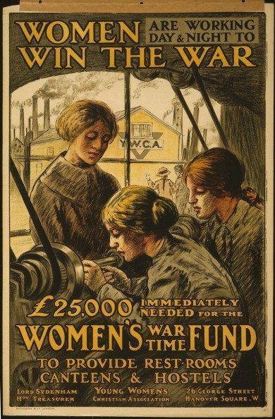 WW1 poster- 'Women win the war'