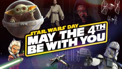 May The 4th Be With You Star Wars Day Celebrations Cbbc Newsround