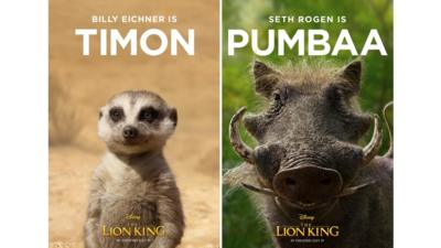 The Lion King Disney Reveal First Character Posters From Film Cbbc Newsround