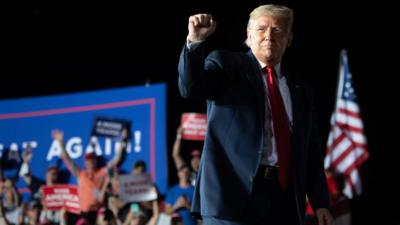 Us Election 2020 Trump Back On Election Campaign Trail Less Than Two Weeks After Testing Positive For Coronavirus Cbbc Newsround