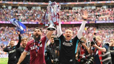 Playoff Final Aston Villa Promoted To The Premier League Cbbc Newsround