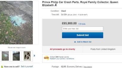 Prince Philip Crash Debris For Sale On Ebay Bbc News