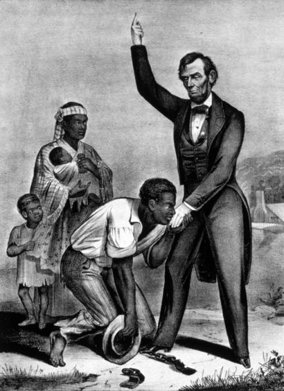 ประธานาธิบดีอับราฮัม ลินคอล์น ได้ลงนามประกาศเลิกทาส ซึ่งสร้างความไม่พอใจให้แก่คนผิวขาว