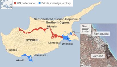 ESTATE FIND CYPRUS TURKISH INVASION Map Vintage  RARE