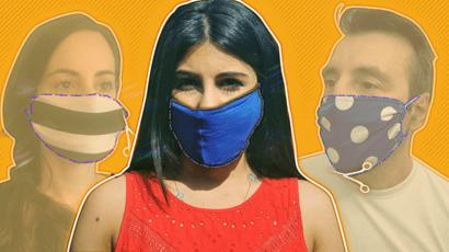 Coronavirus: How to make your own face mask - BBC News  Face masks: Lockdown's big winner  112222796 index how to do masks