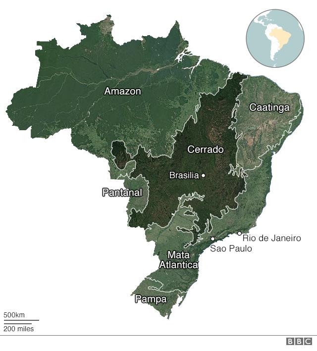 map of brazil amazon rainforest Amazon Fires What S The Latest In Brazil Bbc News map of brazil amazon rainforest
