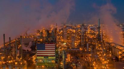 Refinería de petróleo en Estados Unidos.