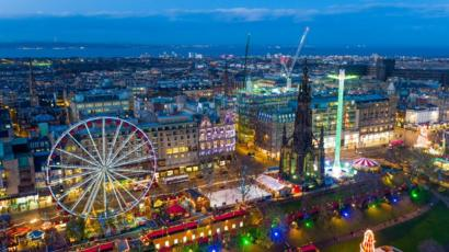Edinburghs Christmas Generates 113m For Economy Bbc News